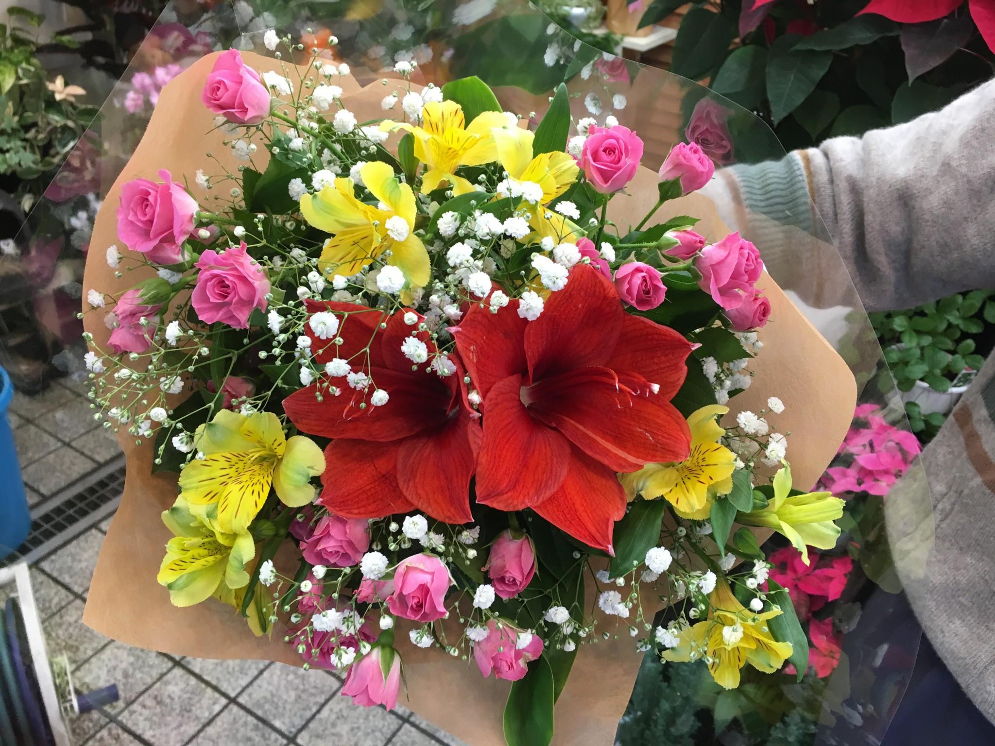 今日の花束紹介!